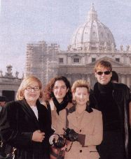 Ricky, his mom, and others while still in Rome.