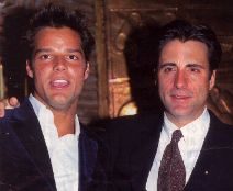 Ricky with Cuban-American actor Andy Garcia